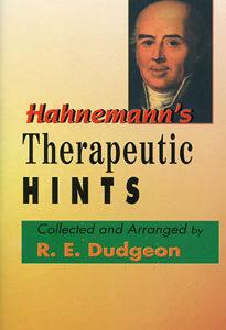 Dudgeon R.E. - Hahnemann's Therapeutic Hints