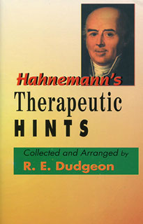Dudgeon R.E. - Hahnemann's Therapeutic Hints