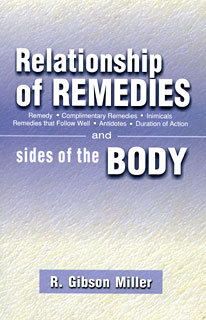 Gibson Miller .R. - Relationship of Remedies and sides of the Body