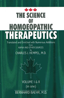 Baehr B. - The Science of Homoeopathic Therapeutics Volume I & II