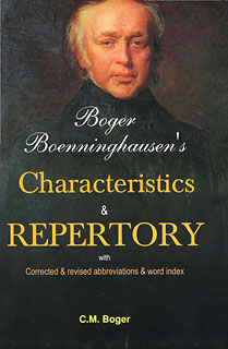 Boger C.M. - Boger-Boenninghausen's Characteristics & Repertory with Corrected & revised abbreviations & word index