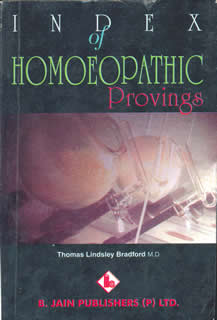 Bradford T.L. - Index of Homoeopathic Provings