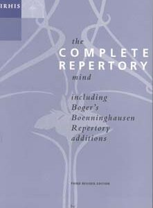 Zandvoort R. van - The Complete Repertory Mind - Paperback