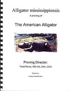 Rowe T. - Alligator mississipiensis - A proving of American Alligator