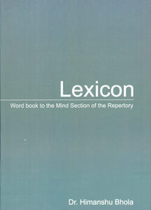Bhola H. - Lexicon - Word book to the Mind Section of the Repertory