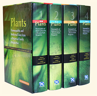 Vermeulen F. / Johnston L. - PLANTS - Homeopathic and Medicinal Uses from a Botanical Family Perspective - 4 volumes in presentation slipcase
